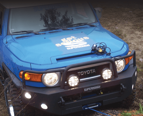 Land Cruiser mit Superwinch Talon Seilwinde