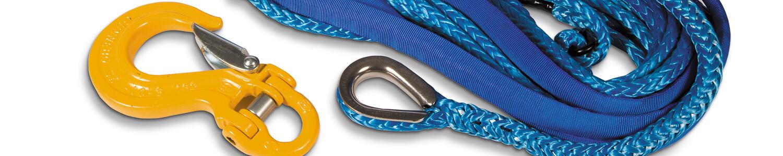 Seile, Fernbedienungen und Umlenkrollen