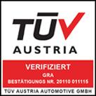 Verifiziert vom TÜV Austria